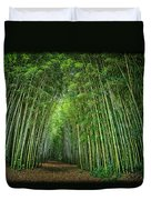 Path Through Bamboo Forest E139 Duvet Cover