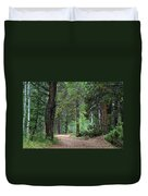 Path Through The Pines - Casper Mountain - Casper Wyoming Duvet Cover