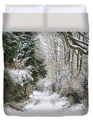 Path Through The Snow Duvet Cover