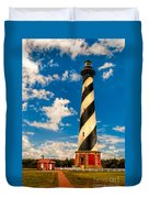 Path To Cape Hatteras Light Duvet Cover