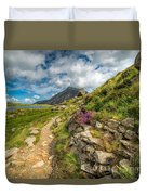 Path To Lake Idwal Duvet Cover by Adrian Evans