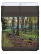 Path To The Daffodils Duvet Cover by Bill Wakeley