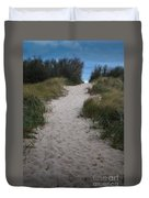 Path To The Dunes Duvet Cover
