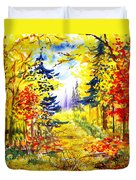 Path To The Fall Duvet Cover