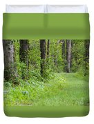 Path To The Green Forest Duvet Cover