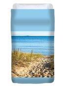 Path To The Lake Superior Beach Duvet Cover