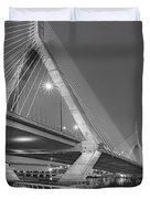 Path To The Leonard P. Zakim Bridge Bw Duvet Cover