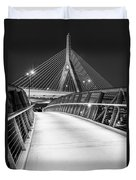 Path To The Zakim Bridge Bw Duvet Cover
