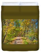 Pathway Along The Ohio And Erie Canal  Duvet Cover