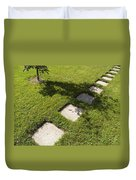 Pathway And Shadows Duvet Cover