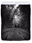 Pathway Through A Bamboo Forest Maui Hawaii Duvet Cover