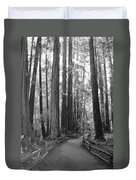 Pathway Through The Trees Duvet Cover