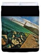 Pathway To The Golden Gate Duvet Cover