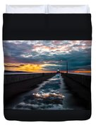 Pathway To The Sun Duvet Cover by Mary Amerman