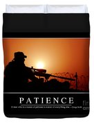 Patience Inspirational Quote Duvet Cover by Stocktrek Images