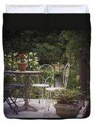 Patio Les Cascades Durfort France Duvet Cover