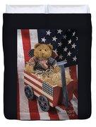 Patriot Bear Duvet Cover by Sharon Elliott