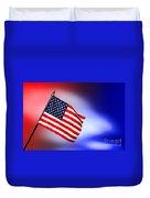 Patriotic American Flag Duvet Cover