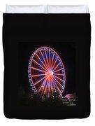 Patriotic Ferris Wheel Duvet Cover