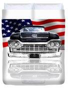 Patriotic Ford F100 1960 Duvet Cover