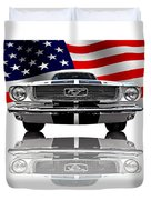 Patriotic Ford Mustang 1966 Duvet Cover