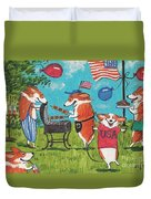 Patriotic Pups Duvet Cover