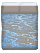 Pattern In Mud Flats At Low Tide In Kachemak Bay From Homer Spit-alaska Duvet Cover