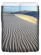 Patterns In The Sand Brazil Duvet Cover