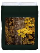 Patterns Of Fall Duvet Cover