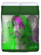 Patti Smith Dancing Barefoot Duvet Cover