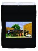 Patty's Pub Guinness On The Glebe Restaurant Bar Bank And Ossington Paintings Of Ottawa Art Cspandau Duvet Cover