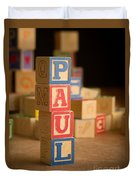 Paul - Alphabet Blocks Duvet Cover