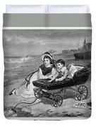 Paul And Florence Dombey Duvet Cover