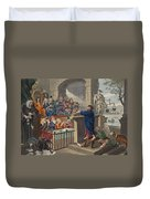 Paul Before Felix, Illustration Duvet Cover
