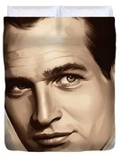 Paul Newman Artwork 1 Duvet Cover