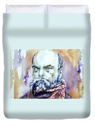 Paul Verlaine - Watercolor Portrait.1 Duvet Cover