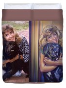 Paula Commissioned Portrait Side By Side Duvet Cover