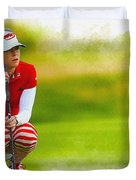 Paula Creamer - The Ricoh Women British Open Duvet Cover