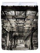 Pavillion Shade At Central Park Duvet Cover
