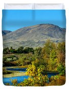 Payette River And Squaw Butte Duvet Cover