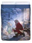 Santa Paying Homage Duvet Cover