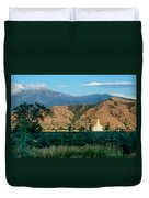 Payson Temple Mountains Duvet Cover