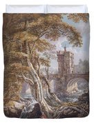 View Of The Old Welsh Bridge Duvet Cover