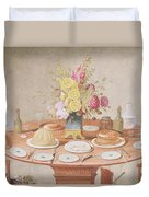 Pd.869-1973 Still Life With A Vase Duvet Cover