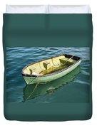 Pea-green Boat Duvet Cover
