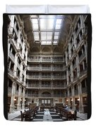 Peabody Library Baltimore Duvet Cover