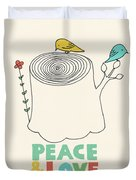 Peace And Love Duvet Cover