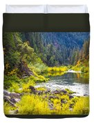 Peace And Tranquility In The Heart Of Feather River, Quincy California Duvet Cover