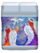 Peace Angels Duvet Cover