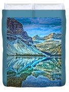 Peace At Bow Lake Duvet Cover